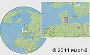 Savanna Style Location Map of Augustenborg