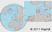 Gray Location Map of Bredebro