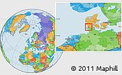 Political Location Map of Bredebro