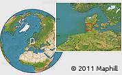 Satellite Location Map of Bredebro