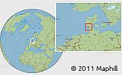 Savanna Style Location Map of Bredebro