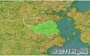 Political 3D Map of Christiansfeld, satellite outside