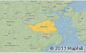 Savanna Style 3D Map of Christiansfeld