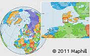Political Location Map of Gram, highlighted parent region