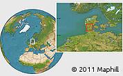 Satellite Location Map of Gram