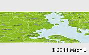 Physical Panoramic Map of Haderslev