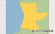 Savanna Style Simple Map of Hojer
