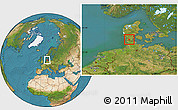Satellite Location Map of Logumkloster