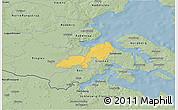 Savanna Style 3D Map of Lundtoft