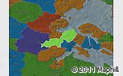 Political Map of Lundtoft, darken