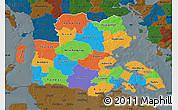 Political Map of Sonderjylland, darken