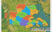 Political Map of Sonderjylland, satellite outside