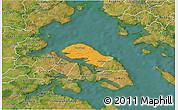 Political 3D Map of Nordborg, satellite outside