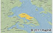 Savanna Style 3D Map of Nordborg