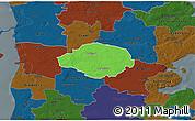 Political 3D Map of Norre Rangstrup, darken