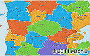 Political 3D Map of Norre Rangstrup