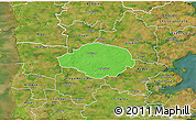 Political 3D Map of Norre Rangstrup, satellite outside