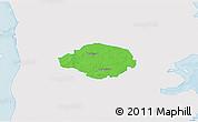 Political 3D Map of Norre Rangstrup, single color outside