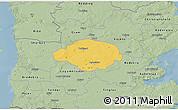 Savanna Style 3D Map of Norre Rangstrup