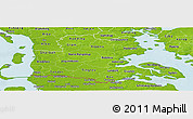 Physical Panoramic Map of Sonderjylland