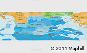 Political Shades Panoramic Map of Sonderjylland