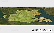 Satellite Panoramic Map of Sonderjylland, darken
