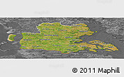 Satellite Panoramic Map of Sonderjylland, desaturated