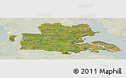 Satellite Panoramic Map of Sonderjylland, lighten