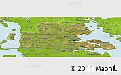 Satellite Panoramic Map of Sonderjylland, physical outside