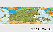 Satellite Panoramic Map of Sonderjylland, political outside