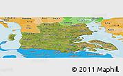 Satellite Panoramic Map of Sonderjylland, political shades outside