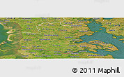 Satellite Panoramic Map of Sonderjylland