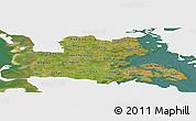 Satellite Panoramic Map of Sonderjylland, single color outside