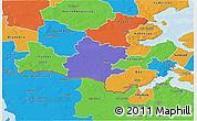 Political 3D Map of Tinglev