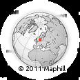 Outline Map of Tinglev