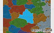 Political Map of Vojens, darken