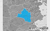 Political Map of Vojens, desaturated