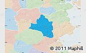 Political Map of Vojens, lighten