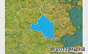 Political Map of Vojens, satellite outside