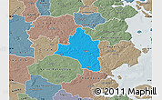 Political Map of Vojens, semi-desaturated
