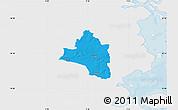 Political Map of Vojens, single color outside