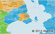 Political Shades 3D Map of Staden Kobenhavn