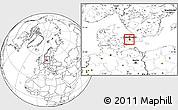 Blank Location Map of Frederiksberg