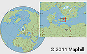 Savanna Style Location Map of Frederiksberg