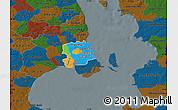 Political Map of Staden Kobenhavn, darken