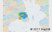 Political Map of Staden Kobenhavn, lighten