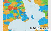 Political Map of Staden Kobenhavn