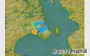 Political Map of Staden Kobenhavn, satellite outside