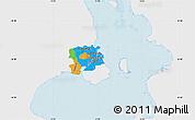 Political Map of Staden Kobenhavn, single color outside