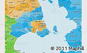 Political Shades Map of Staden Kobenhavn